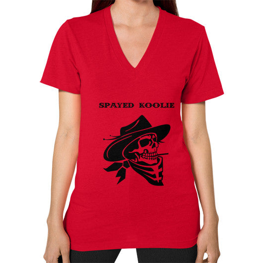 V-Neck (on woman) - Quickdraw Records - 13