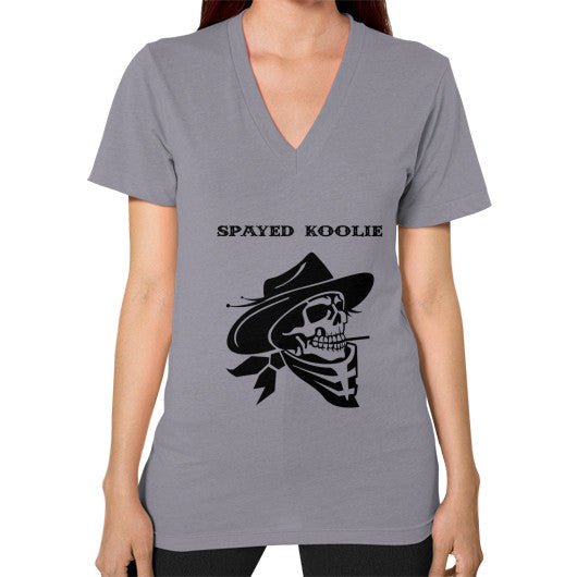 V-Neck (on woman) - Quickdraw Records - 10