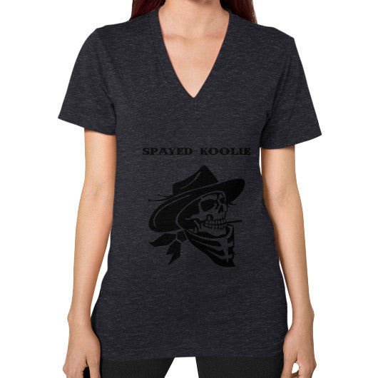 V-Neck (on woman) - Quickdraw Records - 14