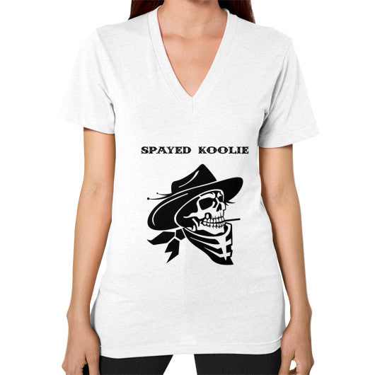 V-Neck (on woman) - Quickdraw Records - 12