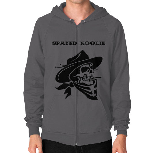Zip Hoodie (on man) - Quickdraw Records - 2