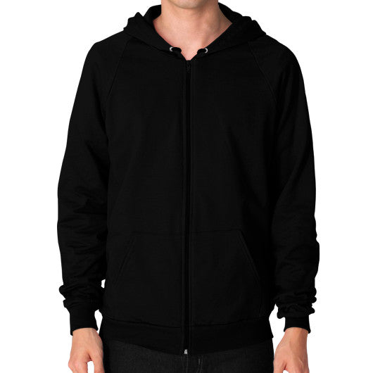 Zip Hoodie (on man) - Quickdraw Records - 3