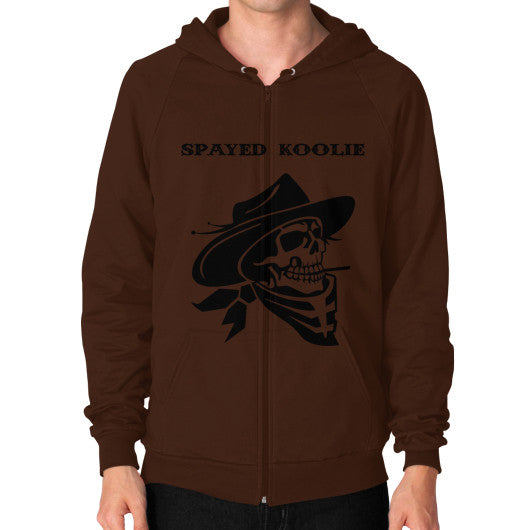 Zip Hoodie (on man) - Quickdraw Records - 4