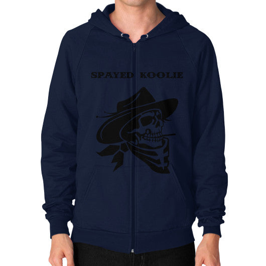 Zip Hoodie (on man) - Quickdraw Records - 6