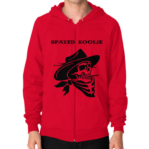 Zip Hoodie (on man) - Quickdraw Records - 1