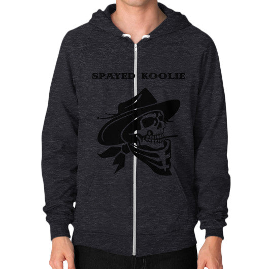 Zip Hoodie (on man) - Quickdraw Records - 8