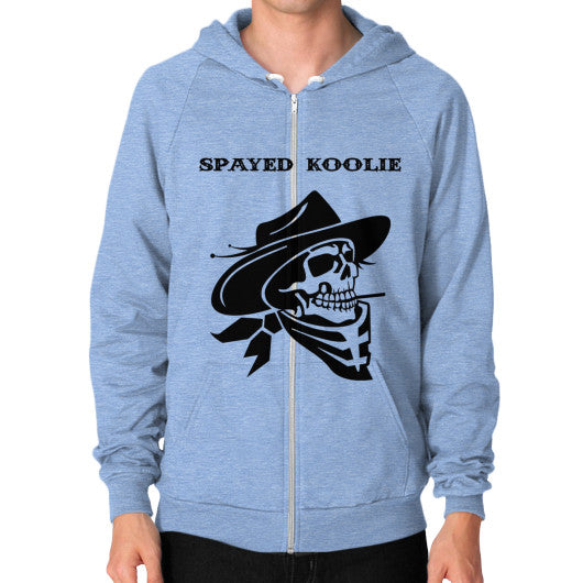 Zip Hoodie (on man) - Quickdraw Records - 9
