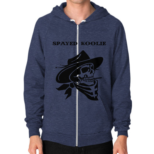Zip Hoodie (on man) - Quickdraw Records - 10