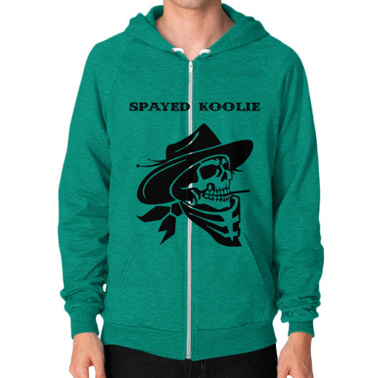 Zip Hoodie (on man) - Quickdraw Records - 11
