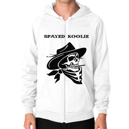 Zip Hoodie (on man) - Quickdraw Records - 7