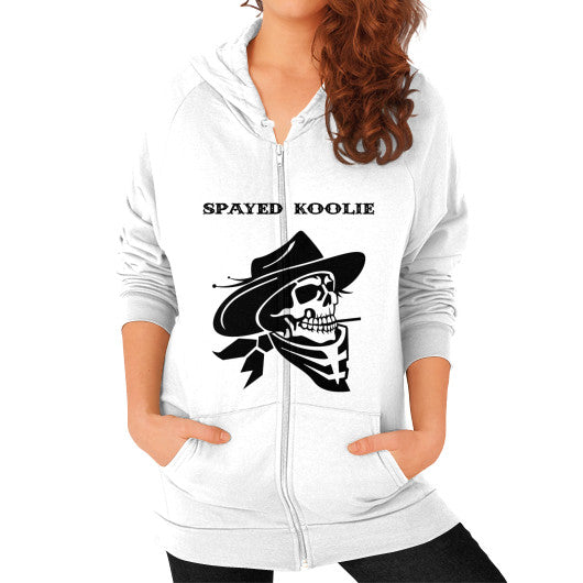 Zip Hoodie (on woman) - Quickdraw Records - 1