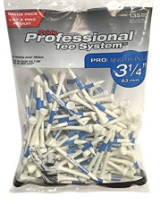 "PTS Pro Length Plus Value Pack 3-1/4"" Tees 135ct 