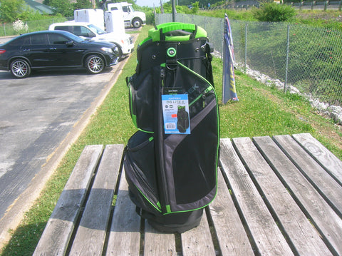 Datrek DG Lite II Cart Bag Black Charcoal Lime 15 Way Divider