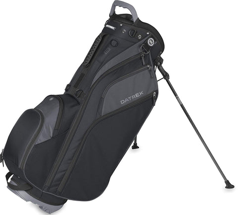 Datrek Go Lite Hybrid Stand Bag Black Slate 14 Way Top Full Length IDS