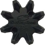 Black Widow Fast Twist 3.0 Blk/Blk Clam 18 ct | SoftSpikes