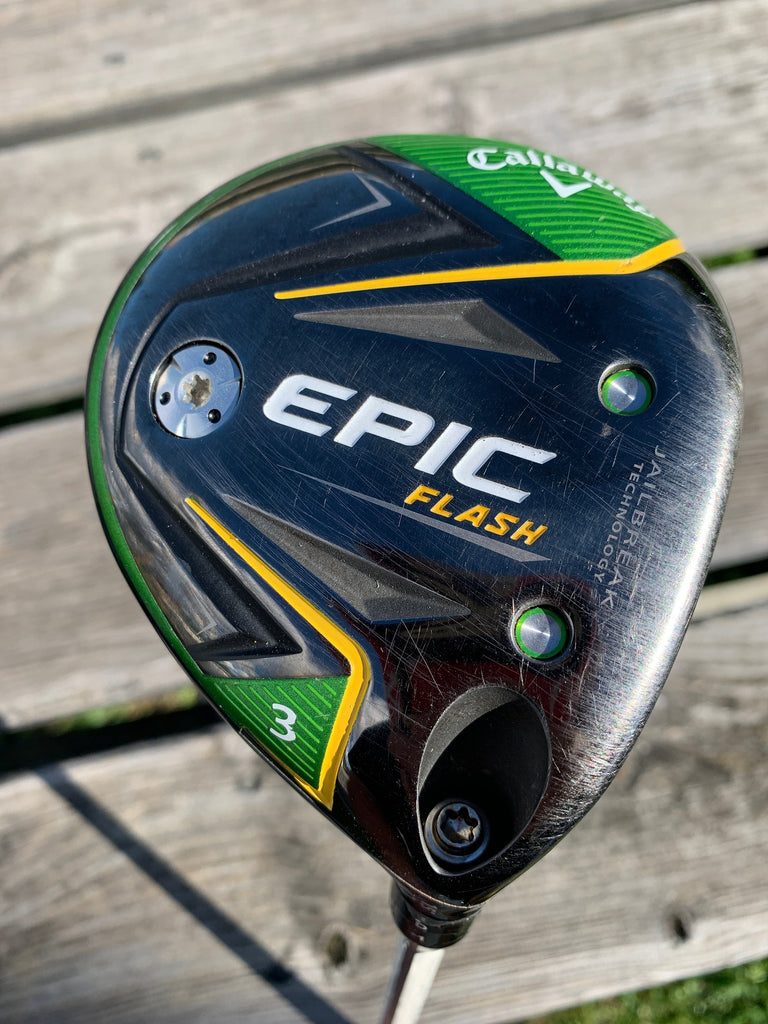 Callaway Epic Flash 15° 3 Wood w/HC Project X S Flex 65g Shaft GP MCC Align Grip