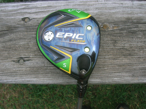 Callaway Epic Flash 18° 5 Wood w/HC Diamana Blue S Flex Shaft CP2 Wrap Jumbo Grip