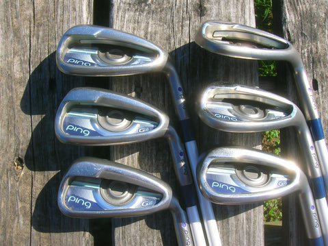 Ping G Le Purple Dot Iron Set 7-SW Ping ULT230 Lite Flex Shafts Ping Grips