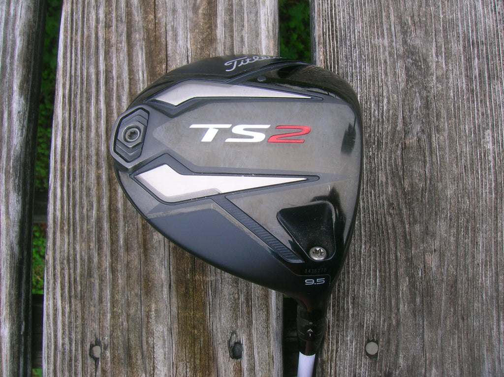 Titleist TS2 9.5° Driver Evenflow T1100 6.0 65g Stiff Flex Shaft GolfPride Tour Velvet 360 Grip Excellent Condition