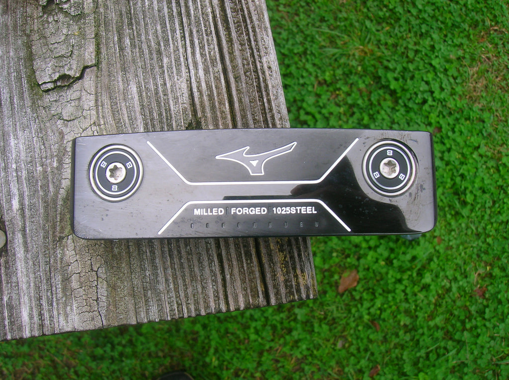 "Mizuno M Craft #1 Black Ion 34"" Putter with Headcover Original Shaft and Grip Excellent"