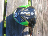 Callaway Epic Flash Sub Zero 9° Driver Matrix Ozik Code 7F S Flex Shaft GP MCC Grip