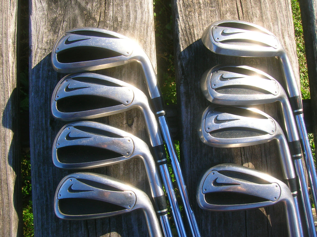 Nike Slingshot Iron Set 3-PW SpeedStep Slingshot R Flex Shafts New Karma Grips