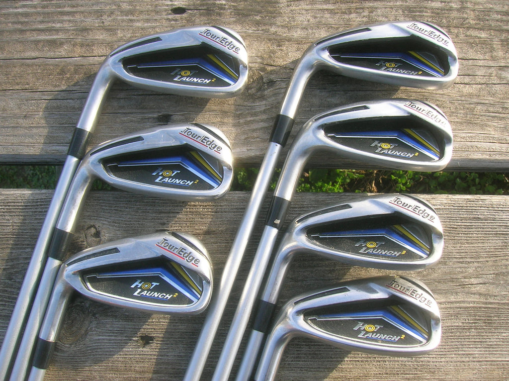 Tour Edge Hot Launch 2 Left Handed Iron Set 4-PW UST Mamiya 60g Reg Flex Shafts