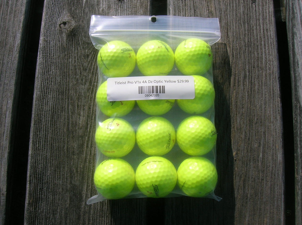 Titleist Pro V1x 4A Dozen Optic Yellow