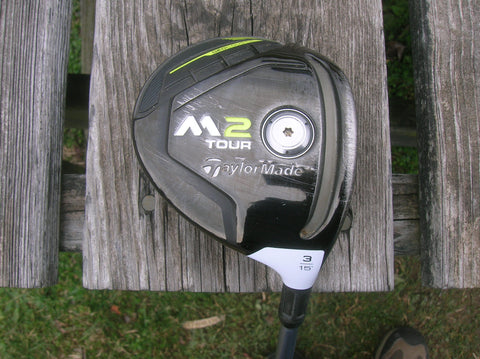 TaylorMade M2 Tour 15° 3 Wood Rombax 7Z08 X Flex Shaft GP Tour Velvet Jumbo Grip