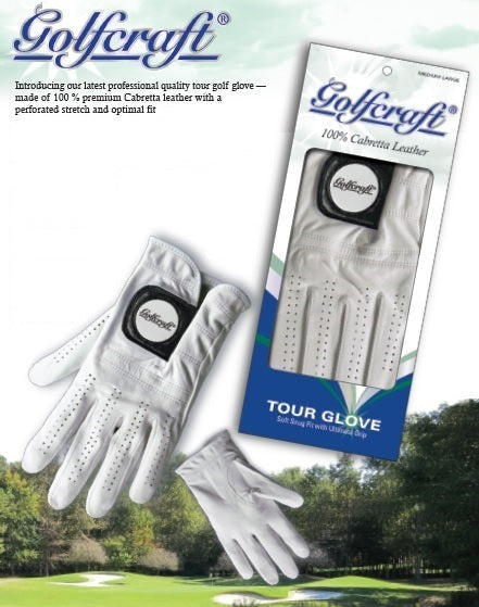 Golfcraft Tour Glove Men's Left Medium 100% Cabretta Leather Golf Glove