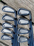 "Titleist DCI Black Iron Set 3-PW, SW -1/4"" MS209 S Flex Shafts Royal Grips NEAR MINT"