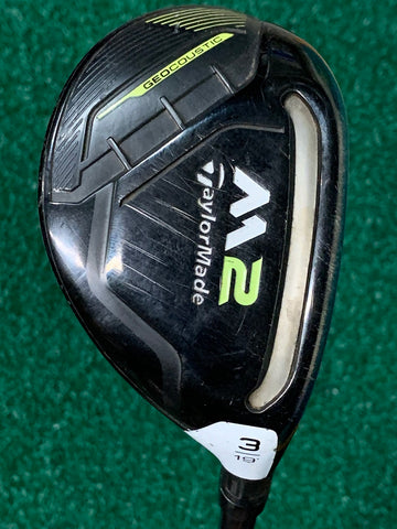 TaylorMade M2 19° 3 Hybrid R Flex Graphite Shaft TM Grip