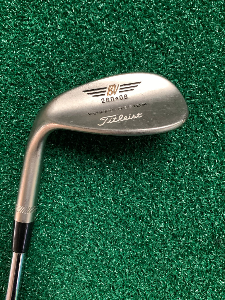 Titleist Left Handed Vokey 260•08 Lob Wedge R Flex Steel Shaft Titleist Grip
