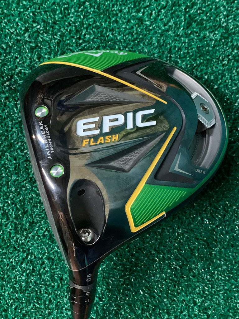 Callaway Epic Flash 9° LH Driver Evenflow 55g 5.5 R Flex Shaft MCC Align Grip Mint