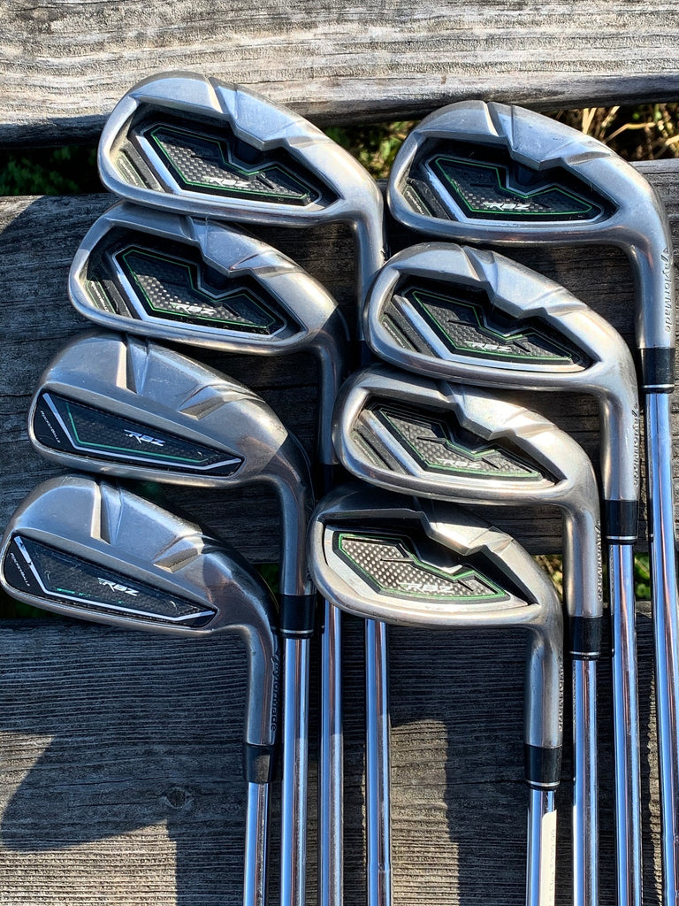 TaylorMade RBZ Iron Set 4-GW S Flex Steel Shaft GP Tour Wrap Grips