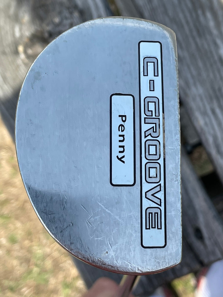 "Yes C-Grooves Penny 35"" Putter C-Grooves Shaft Super Stroke Style Customized Grip-(TN. VOLS)"