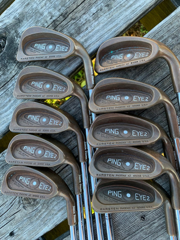 "Ping BeCu Eye 2 White Dot Iron Set 2-SW +1/2"" Ping ZZ Lite S Flex Shafts Karma Grips"