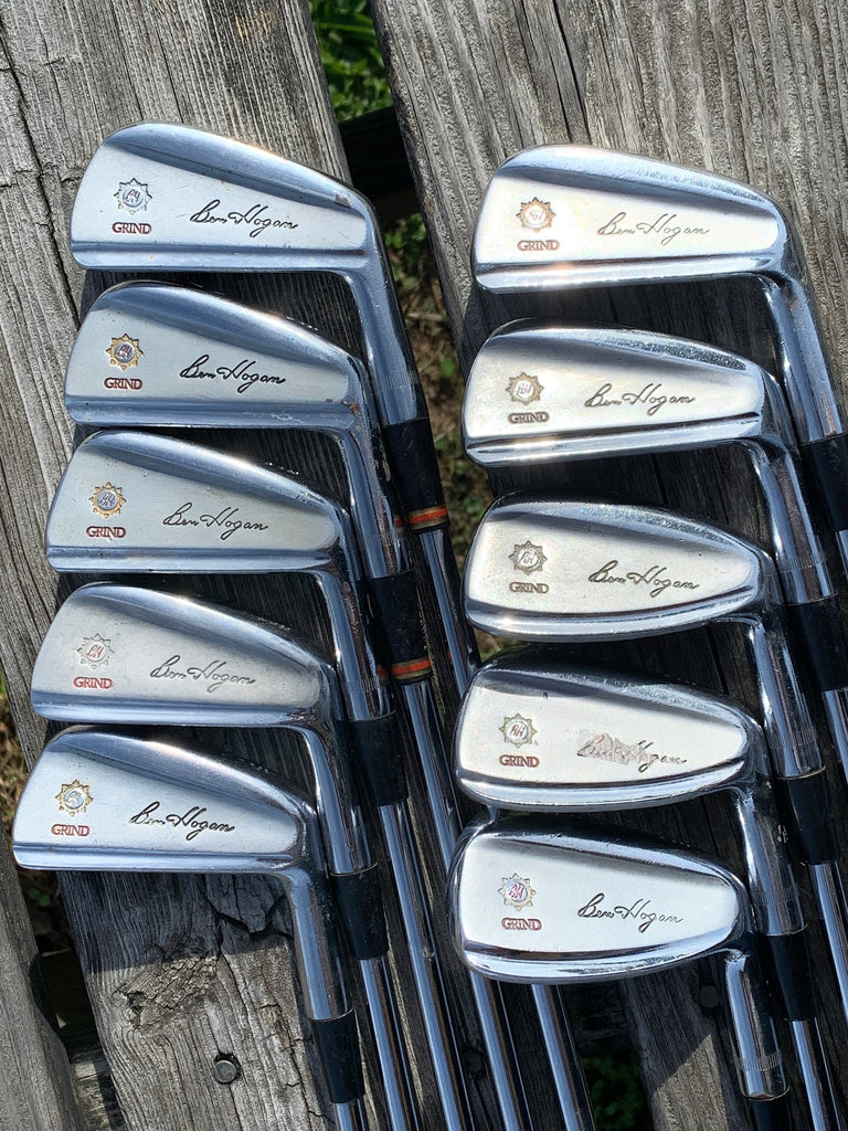 "Ben Hogan Apex Grind Iron Set +1/2"" 1-EW Dynamic Gold S Flex Shafts GP Grips"