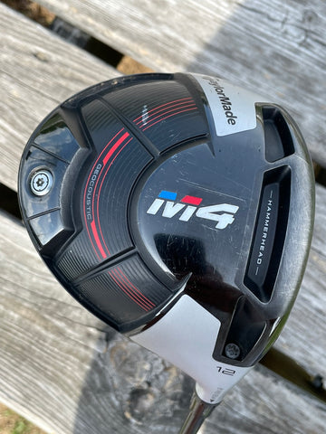 TaylorMade M4 12° Driver Atmos Regular Flex Shaft Golf Pride MCC +4 Align Grip