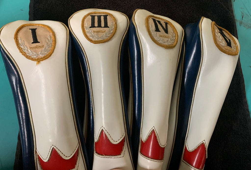Vintage PGA Head Covers I, III, IV, II/V