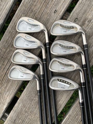TaylorMade RAC OS Iron Set 3-AW NO PW TaylorMade R Flex Shafts TaylorMade Grips