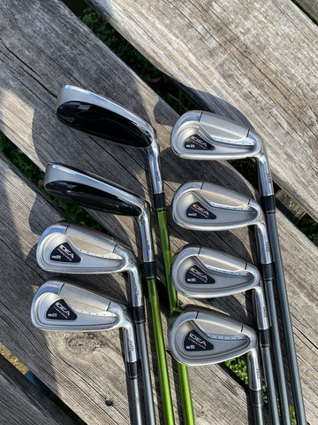Adams Idea A2 Hybrid Iron Set 3-PW Aldila NV-85 S Flex Shafts GP Tour Wrap Grips