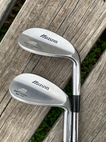 Mizuno MP Series 56•11 Sand Wedge/52•07 Gap Wedge W Flex Steel Shafts GP Tour Wrap Grips