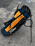Titleist 4 Way Stand Bag Blue and Yellow Cloth Single Strap 4 Pockets