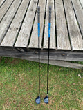 Mizuno Tzoid Forged 15° 3 Wood, 18° 5 Wood Accel-Arc Pro Stiff Flex Shafts Golf pride MCC Grips