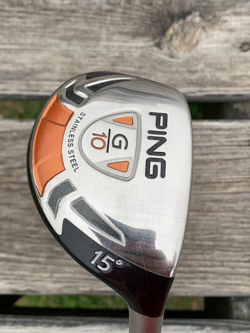 Ping G10 15° Hybrid TFC129 Regular Flex Shaft Ping Grip