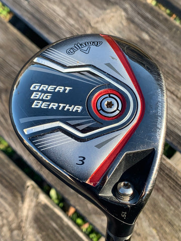Callaway Great Big Bertha 3 Wood Kurokage 50g Stiff Flex Shaft Golf MCC Grip