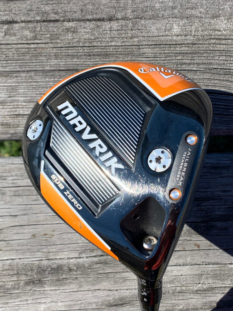 Callaway Mavrik Sub Zero 9.0° Driver Riptide 50g Regular Flex Shaft GP Tour Velvet Align Grip