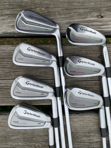 TaylorMade Tour Preferred MC Iron Set 4-PW KBS X Flex Shafts Super Stroke Grips
