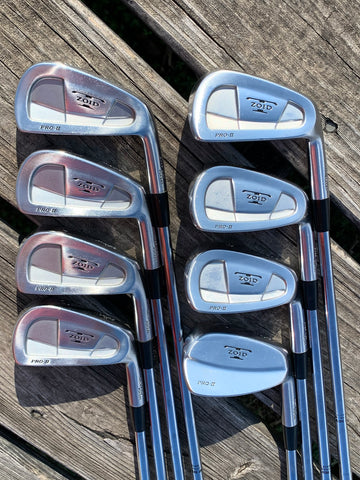Mizuno T Zoid Pro II Iron Set 3-PW S300 Stiff Flex Shafts Golf Pride CP2 Wrap Jumbo Grips
